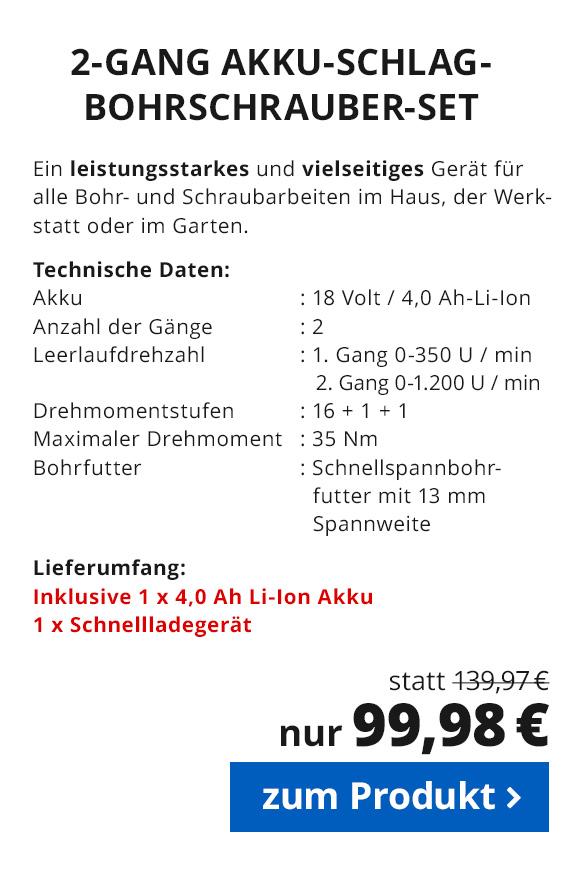 Akku Schlagbohrschrauber 18 V Li - Ion
